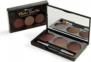 BH Cosmetics BHcosmetic FLAWLESS BROWN TRIO BROW DEFINING KIT ( DARK