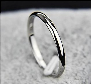 SM Accessories Silver Plated Platinum Ring