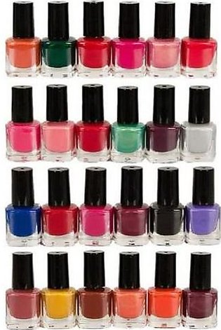 Miss Rose Pack Of 24 - Peel Off Nail Paints / Nail Polish - Multicolo