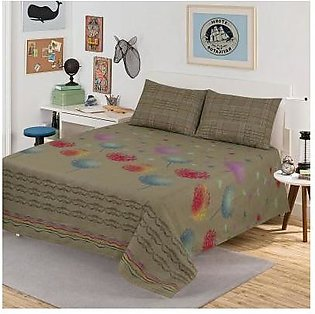 Sitara Faun Platinum Bed Sheet - 06