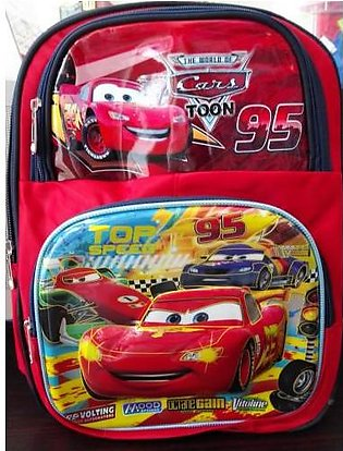 M Toys Sports & Stationers Racing Cars 3D-Cartoon Character School Bag for Mo...