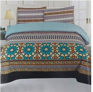 Sajalo Bed Sheet Multicolour Sajalo Bed Sheet-1062