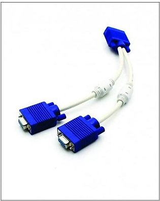 Muzammil Store Vga Y Cable Od 8mm - White