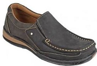 Emotions Choco Brown Leather Slip On Digger Shoes
