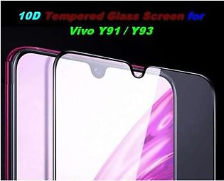 MISC Mobiles 10D for Y91/Y93 Tempered Glass Screen Protector Full Edge Cover Fo…