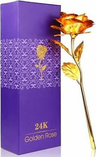 HOMEnMORE 24K Gold Plated Rose In Box