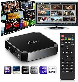 Muzammil Store Android Smart TV Box X96 Mini Quad Core 2g+16g
