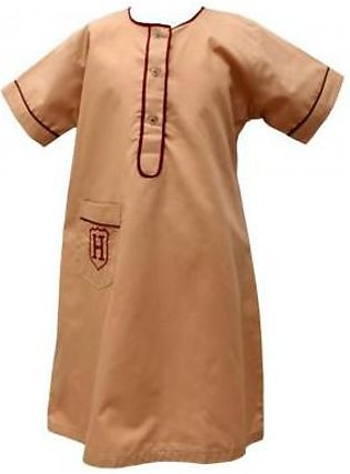Liberty Uniforms Habib Girls School Uniform Fawn Frock Half Sleeves