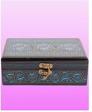 Fashion Cafe 6x4x2''-Delicately Hand-Painted Classic Jewellery Box