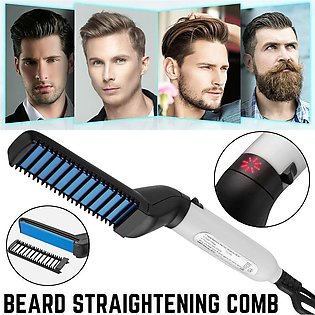 - Beard Straightener Hair Comb Men Electric Hair Styling Comb Hair Accessorie...