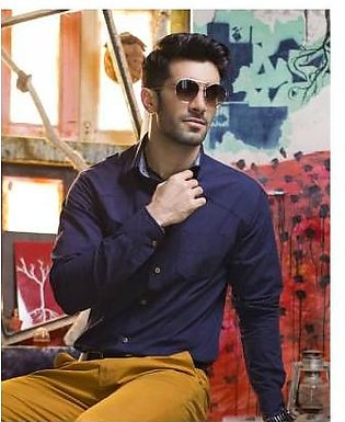 Red Tree Navy Shirt with printed cont - RT3018