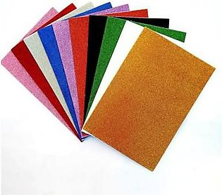 Shapes Pack of 10 - Glitter Fomic Sheets