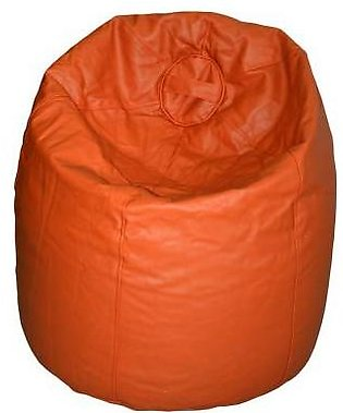 Relaxer Bean Bags Brown Plain Leatherite Extra Large Bean Bag - XLRT 04 A