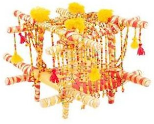Fashion Cafe 3x4'' Handmade Beaded and Bright Laced Doli Decoration Piece
