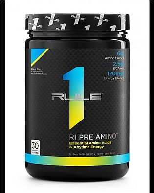 Rule 1 Protein R1 Pre Amino - Blue Raspberry Lemonade 30 Servings Intra Workout