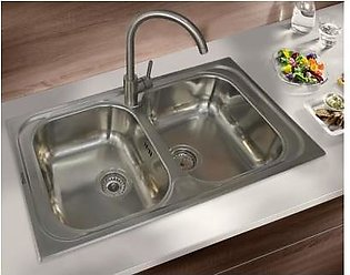 STEELINE Atlantic 86x50 2V Stainless Steel Kitchen Sink (Made In Italy)