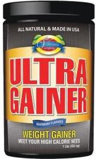The Vitamin Company Ultra Gainer-1 Lbs (454 mg)  RASPBERRY FLAVOR