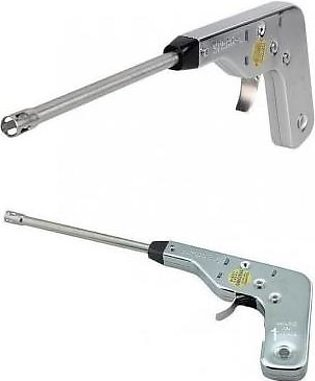 Net World Pack of 2-Gas Stove Lighter-Silver