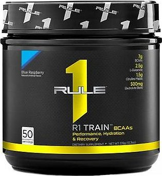 Rule 1 Protein R1 Train BCAAs - Blue Raspberry 50 Servings Intra Workout Drink