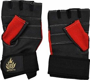 Asaan Sports 2 Pcs Gym Gloves - Red