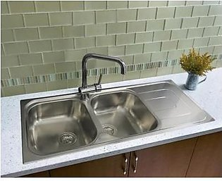 STEELINE Pizzica 116x50 2V Stainless Steel Kitchen Sink (Made In Italy)