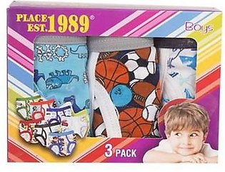 Asaan Buy Pack of 3 Boys Underwear-Extra Extra Small-Multicolour