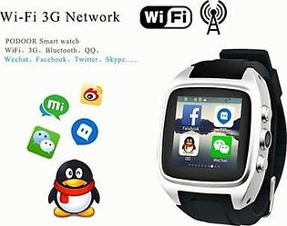 Battery Parcel Android Smart Watch X02 With WiFi And 3G 4.4 Kitkat