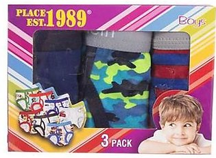 Asaan Buy Pack of 3 Boys Underwear-Extra Small-Multicolour
