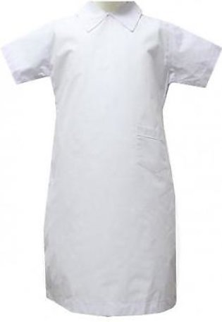 Liberty Uniforms Habib Girls School Uniform White Plain Frock Half Sleeves