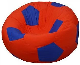 Relaxsit King Size Fabric Football Bean Bag Chair - Red & Blue