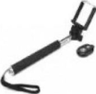 Net World Selfie Stick With Bluetooth Remote - Black & Silver