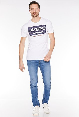 Jack & Jones White Statement Logo T-Shirt