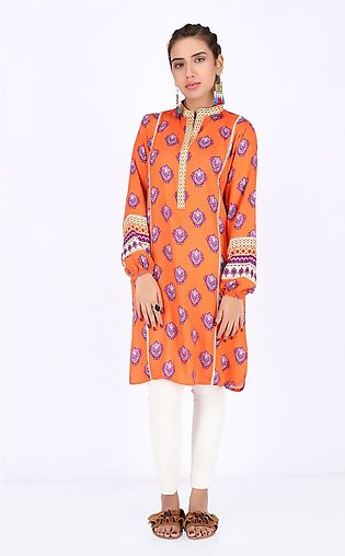 Coral Orange - 1 Piece - Viscose shirt