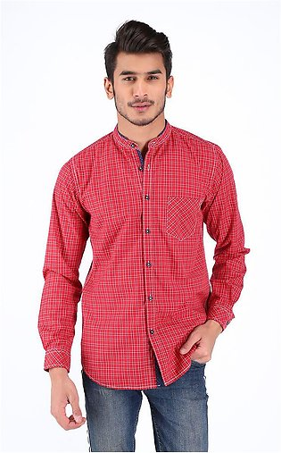 Casual Shirts - Red - Cotton - ZMCS20013
