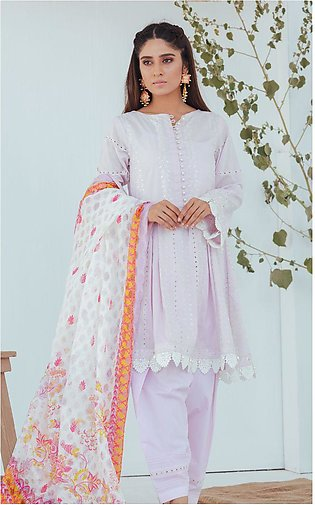 Shirt Shalwar Dupatta - Vanilla Pink - Embroidered Lawn Suit