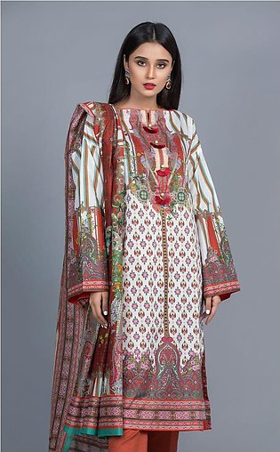 Shirt Shalwar Dupatta - Punch Orange - Lawn Suit