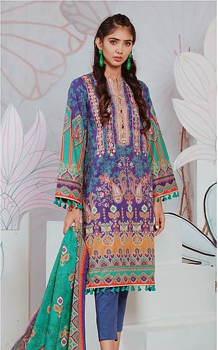 Shirt Shalwar Dupatta - Blue Bliss - Embroidered Lawn Suit