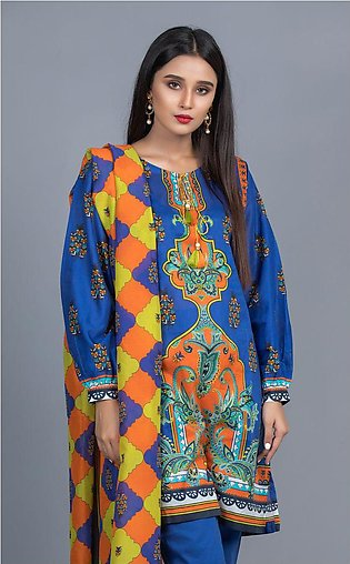 Shirt Shalwar Dupatta - Fun Blue - Lawn Suit