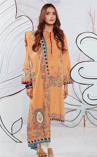 Shirt Shalwar Dupatta - Embroidered Marigold - Lawn Suit