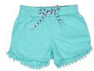GIRLS GREEN SHORT